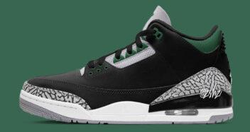 """Air Jordan 3 """"Pine Green"""" 2021 CT8532-030"""