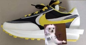 sacai x Nike LDWaffle Black White Yellow