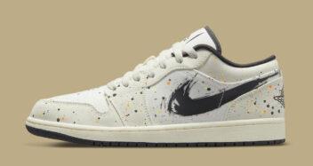 """Air Jordan 1 Low """"Paint Splatter"""" DM3528-100"""
