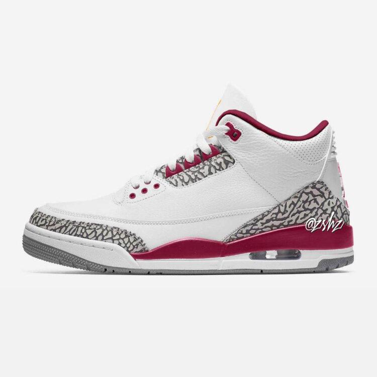 "Air Jordan 3 ""Cardinal"" CT8532-126"