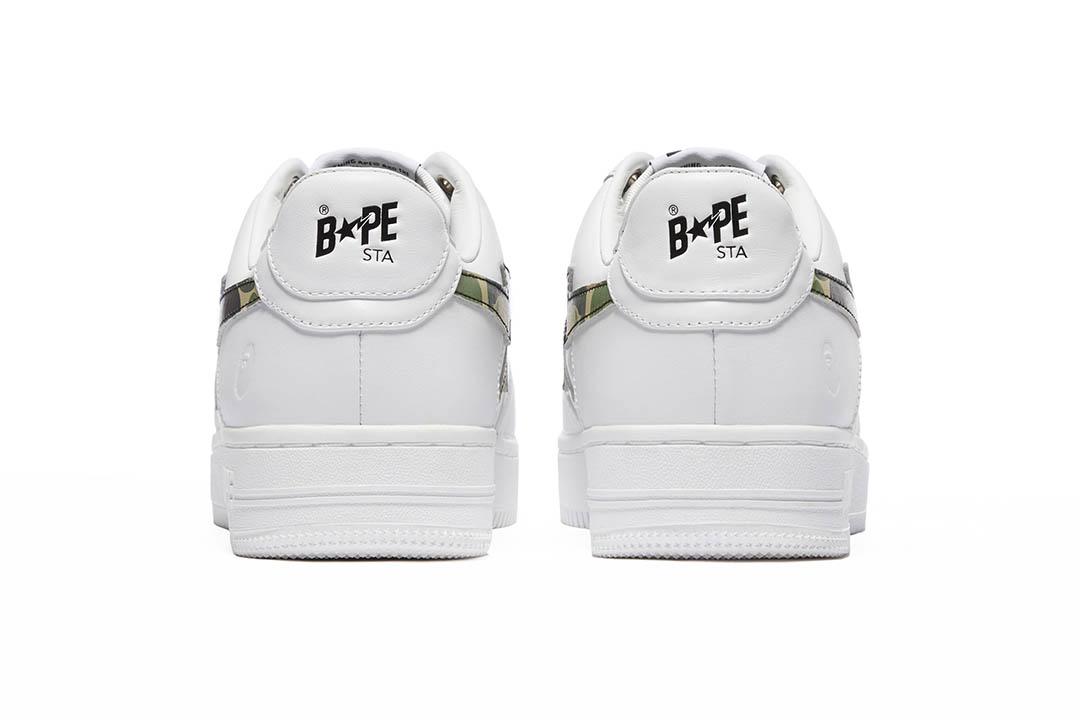 BAPE BAPE STA WHITE ABC CAMO GREEN 001FWH201045_GRN