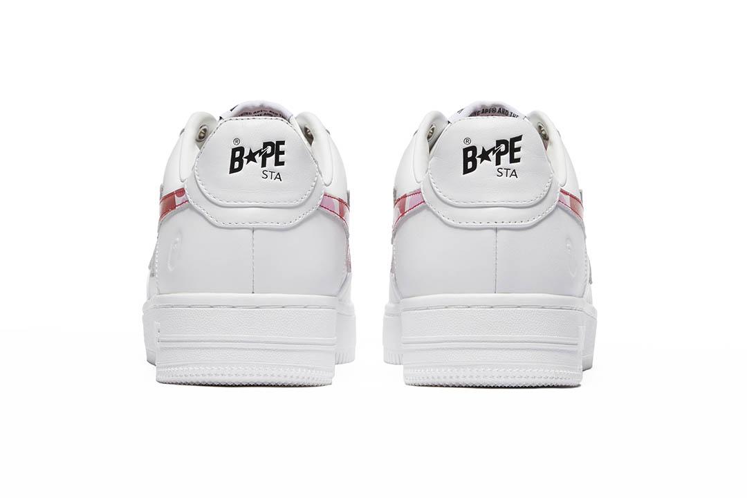 BAPE BAPE STA WHITE ABC CAMO PINK 001FWH201045_PNK