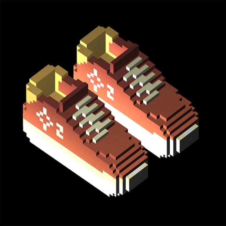 "CryptoKickers x Wilson Chandler NFT Ortho Overpromise 8s ""Dusty Orange Fade"""