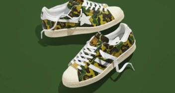 "BAPE x adidas Superstar ""Green Camo"" GZ8981"