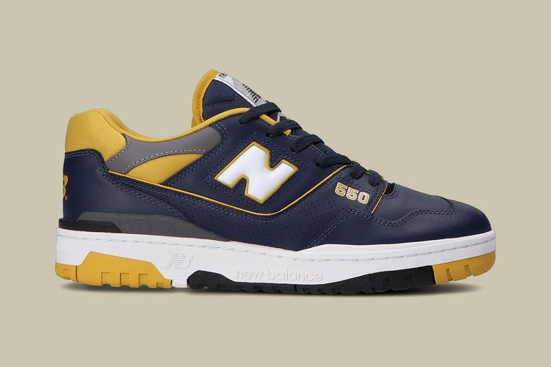New Balance 550 Navy/Yellow BB550MA1