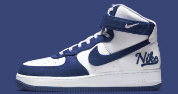 "Nike Air Force 1 High EMB ""Dodgers"" DC8168-100"
