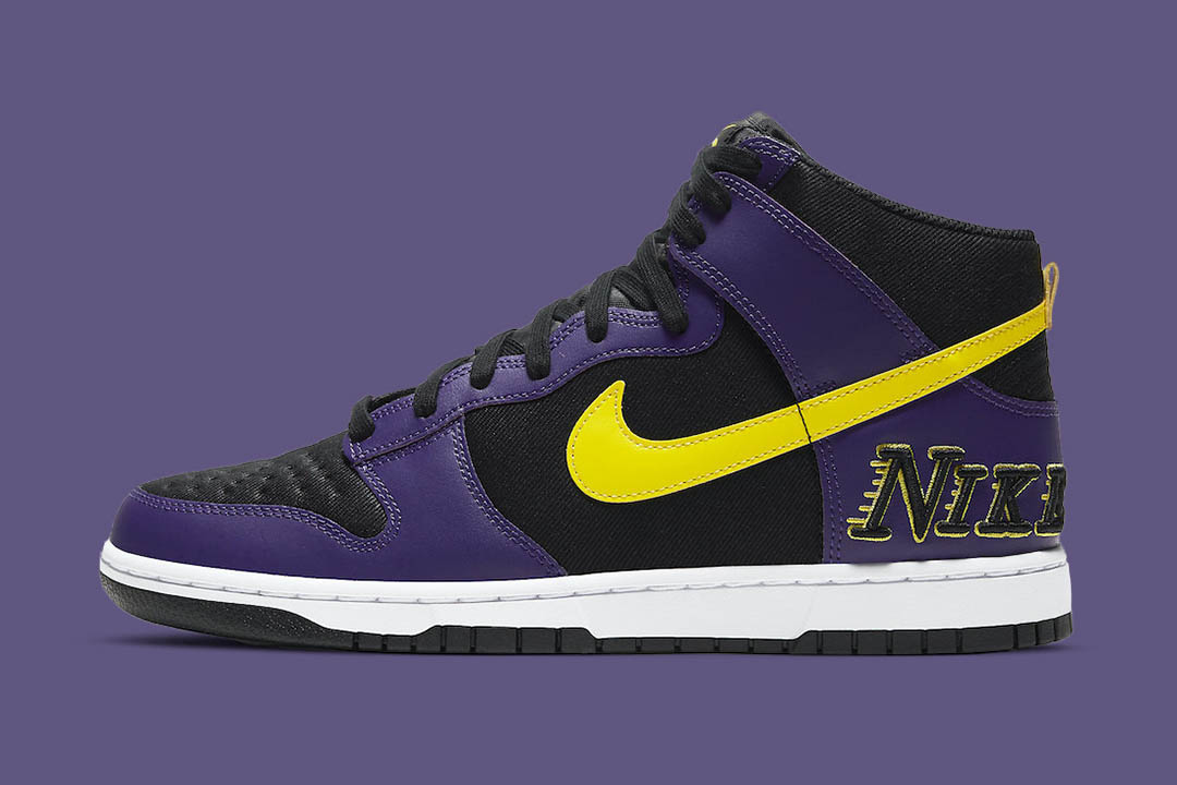 "Nike Dunk High EMB ""Lakers"" DH0642-001"
