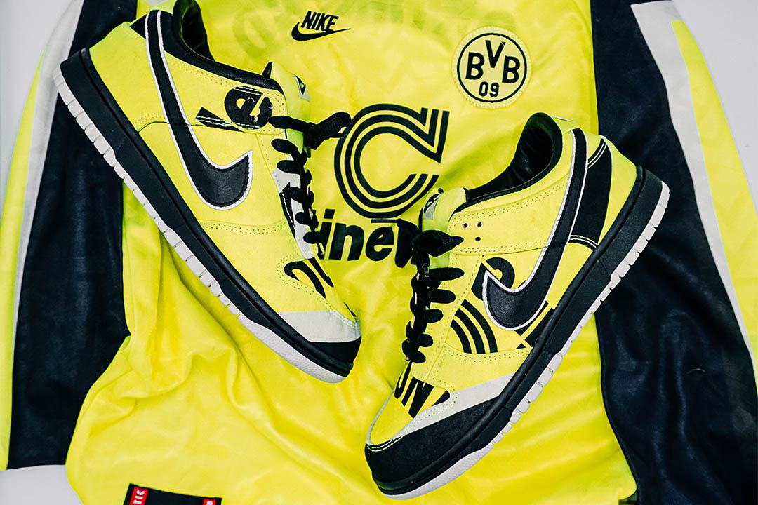 """Classic Football Shirts x Kicks To The Pitch Nike Dunk Low """"BVB"""""""