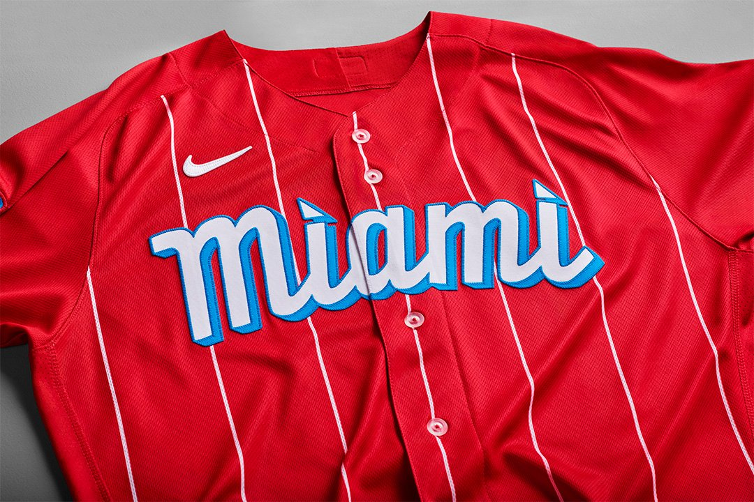 Nike MLB City Connect Series Miami Marlins Jersey