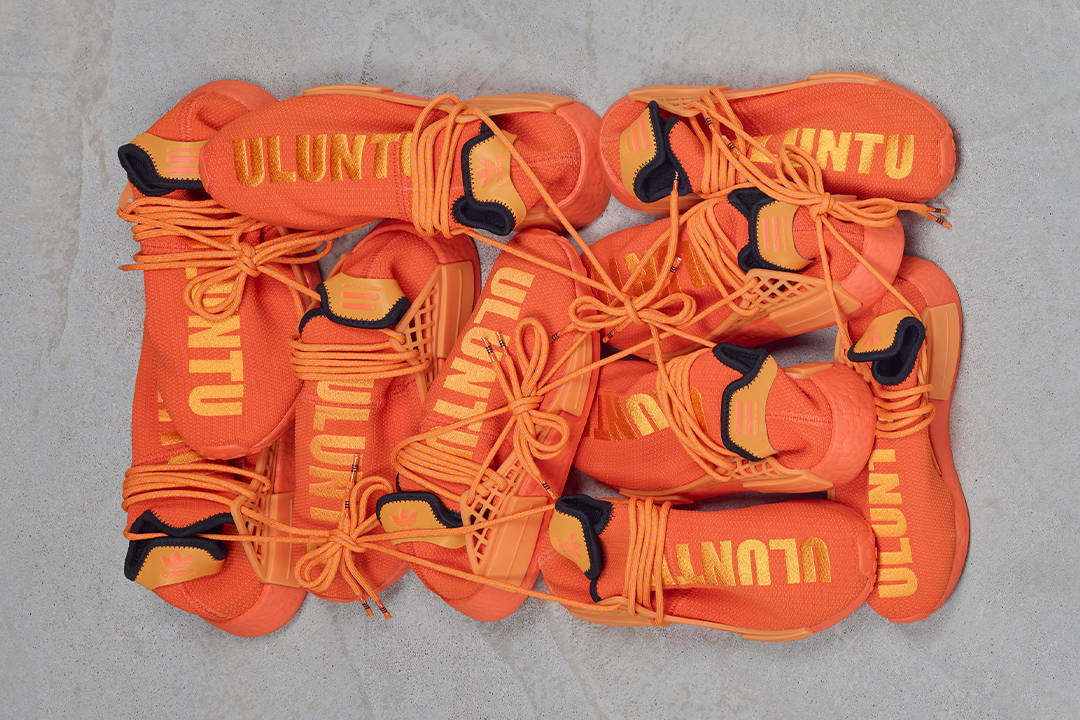 "Pharrell x adidas NMD Hu ""Bright Orange"" GY0095"