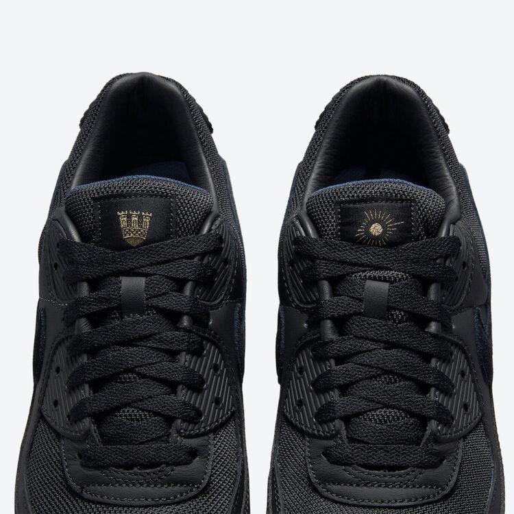Nike Air Max 90 AIK Fotboll Black Gold DJ4602 001 07 750x750