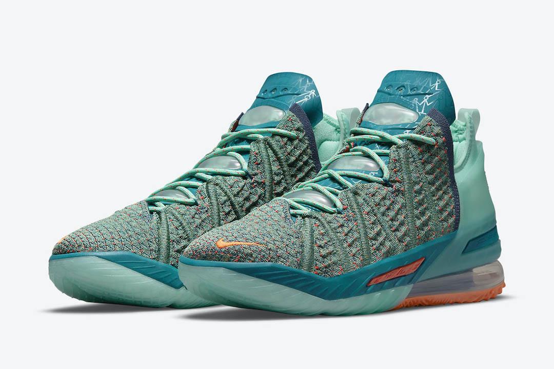 Nike LeBron 18 We Are Family CQ9283 300 01