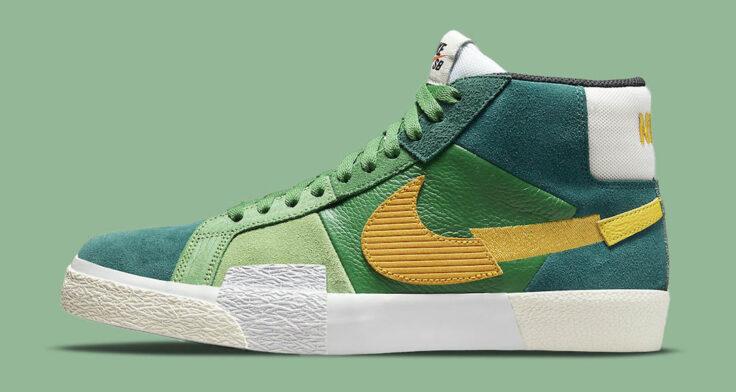 """Nike SB Blazer Mid """"Mosaic"""" DA8854-300"""