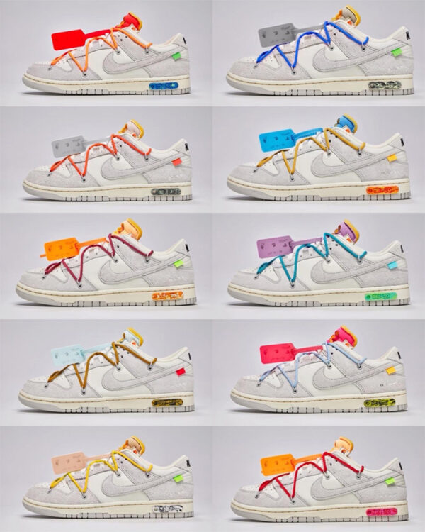 "Off-White x Nike Dunk Low ""Dear Summer"" Lots 11-20 & 31-40"