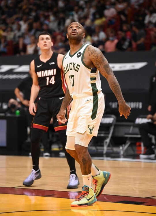 """P.J. Tucker in the Nike KD 5 """"All-Star Area 72"""""""