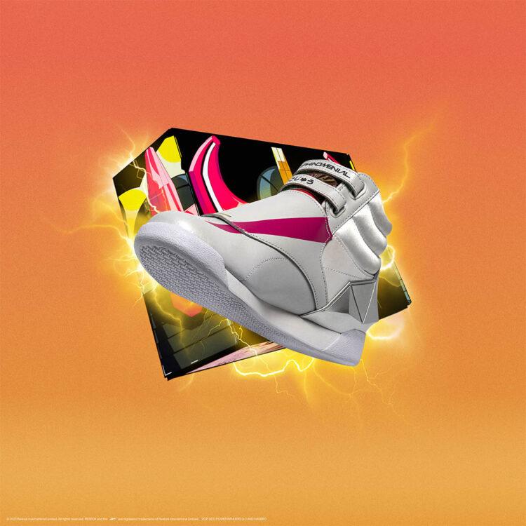 "Power Rangers x Reebok Freestyle Hi ""Pink Ranger"" GW2425"