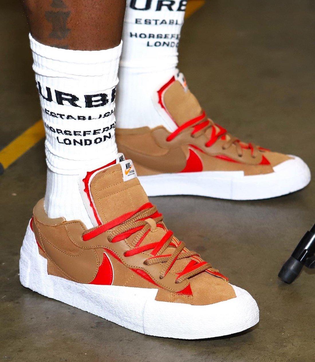 Sacai Nike Blazer Low Light British Tan DD1877 200 01