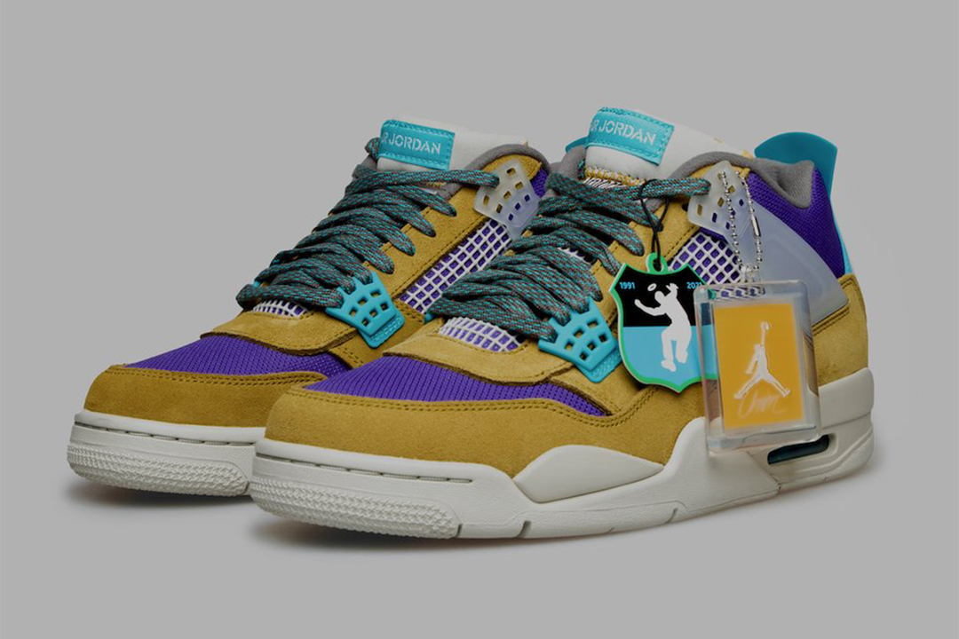 "Union LA x Air Jordan 4 ""Desert Moss"" DJ5718-300"