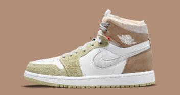 "Air Jordan 1 Zoom CMFT ""Olive Aura"" CT0979-102"