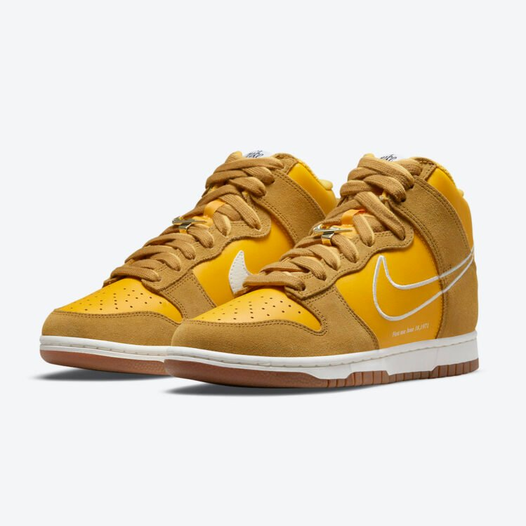 """Nike Dunk High """"First Use"""" """"University Gold"""" DH6758-700"""
