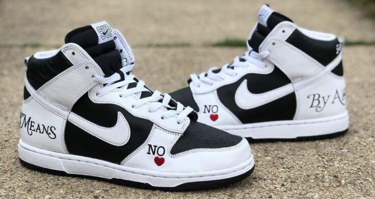 """Supreme x Nike SB Dunk High """"By Any Means"""""""