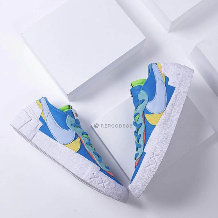 Kaws x Sacai x Nike Blazer Low DM7901-400