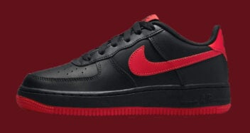 Nike Air Force 1 GS Black University Red DH9812 LEAD 352x187