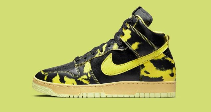 """Nike Dunk High """"Yellow Acid Wash"""" DD9404-001"""
