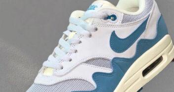 Patta Nike Air Max 1 White Blue Lead 352x187