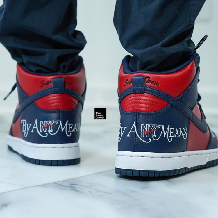 """Supreme x Nike SB Dunk High """"By Any Means"""" DN3741-600"""