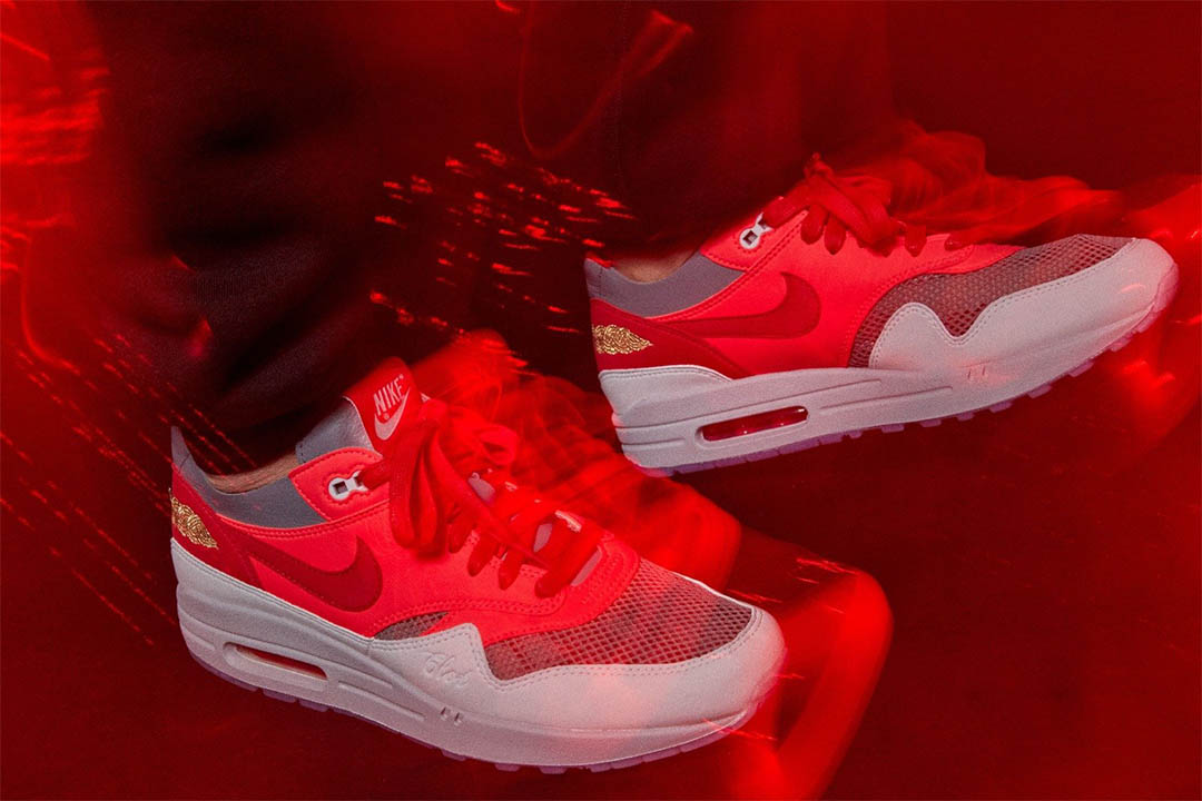clot nike air max 1 kod solar red release date 21