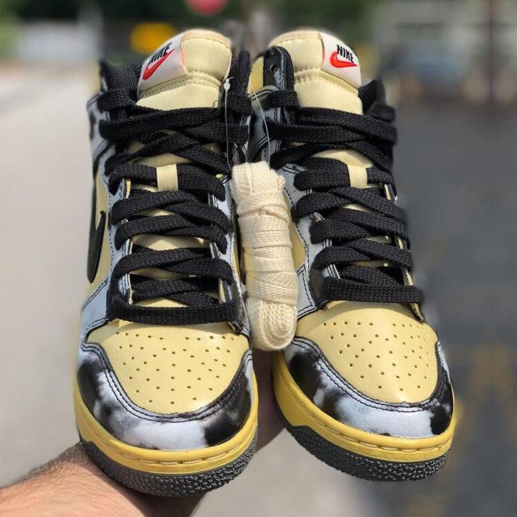 """Nike Dunk High """"Black Acid Wash"""" DD9404-100"""