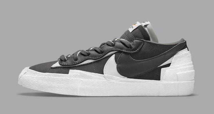 """sacai x Nike Blazer Low """"Dark Grey"""" DD1877-002"""