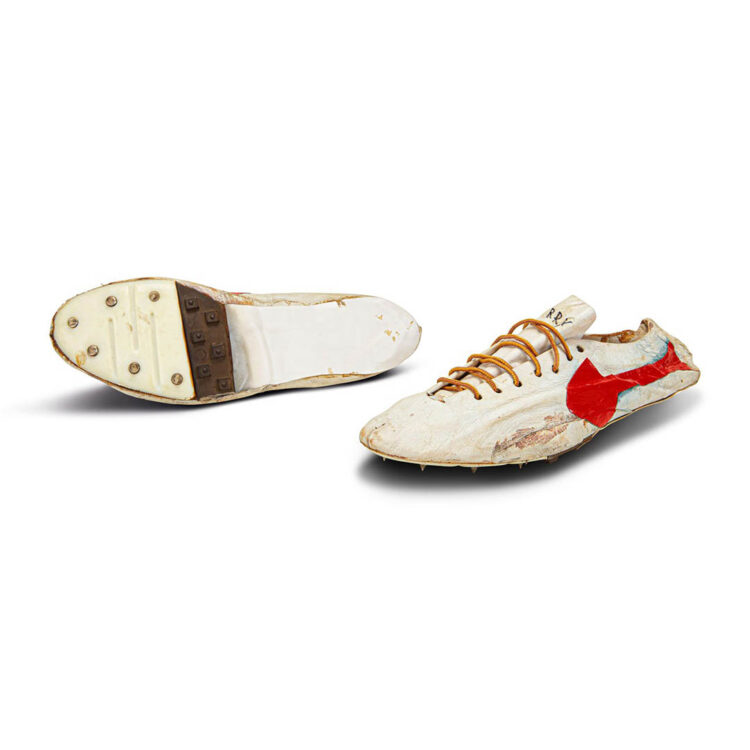 Bill Bowerman Track Spikes for Harry Jerome 1960