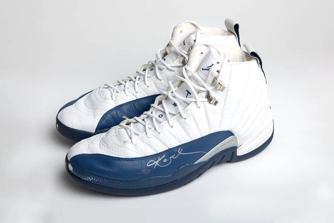 Kobe Bryant Game Worn French Blue Air Jordan 12 Retros