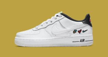 "Nike Air Force 1 Low ""Peace, Low, Swoosh"" DM8154-100"