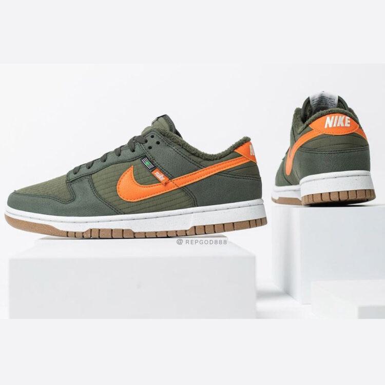 "Nike Dunk Low ""Toasty"" Sequoia/Orange-Medium Olive-Sail DD3358-300"