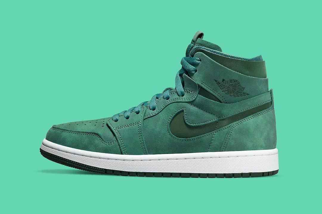Tonal Green Strikes The Air Jordan 1 Zoom CMFT