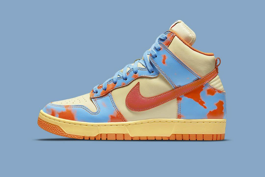 """Nike Dunk High 1985 """"Orange Acid Wash"""" DD9404-800"""
