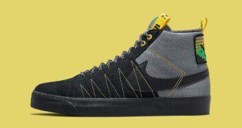 Nike SB Blazer Mid Premium Acclimate Cool Grey Yellow Strike DC8903 001 lead 352x187