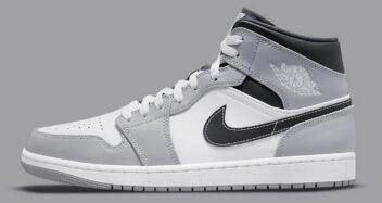 "Air Jordan 1 Mid ""Light Smoke Grey"" 554724-078"