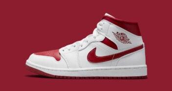 """Air Jordan 1 Mid """"Red Toe"""" 554724-161"""