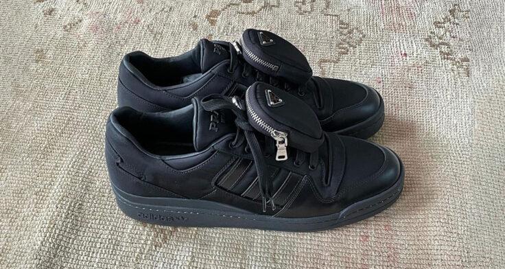 "PRADA x adidas Forum Low ""Triple Black"""